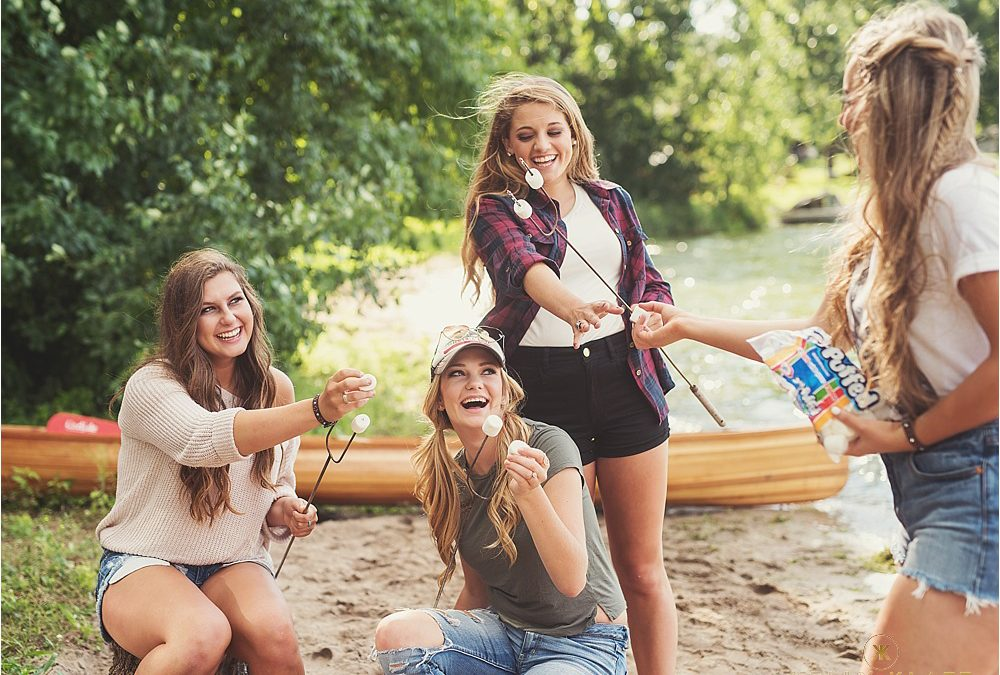 Kelly Klatt Senior Models ~ Summer Team Camping Shoot ~ Minnesota Senior Photography